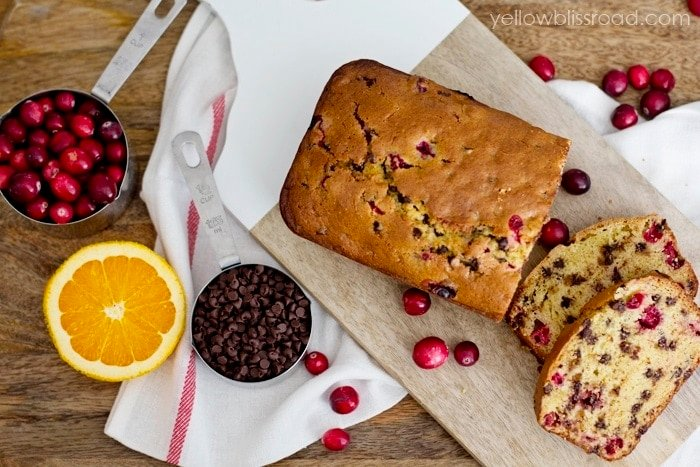 Delicious Cranberry Orange Bread with Chocolate Chips