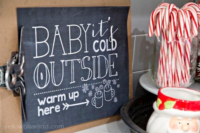 Hot Chocolate Station Free Printable