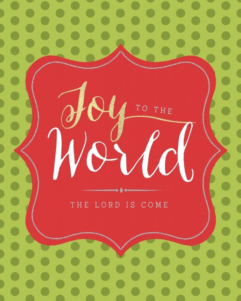 Christmas Printable: Joy to the World