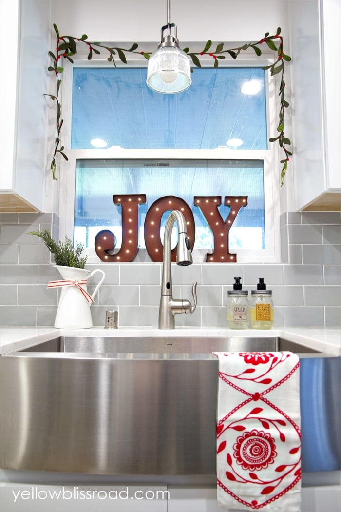 That Lighted Joy Marquee Is The First Christmas Decoration I Bought This Year It S My Favorite Thing In Kitchen And Battery Operated So