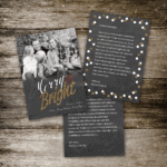 Chalkboard and Glitter Photo Holiday Card