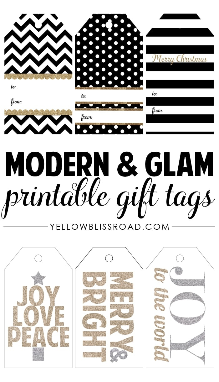 photo relating to Free Christmas Tag Printable identify No cost Printable Rustic and Plaid Reward Tags - Yellow Bliss Highway