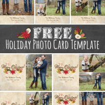 Free Download Holiday Photo Card Template