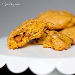Close up of pumpkin cookies