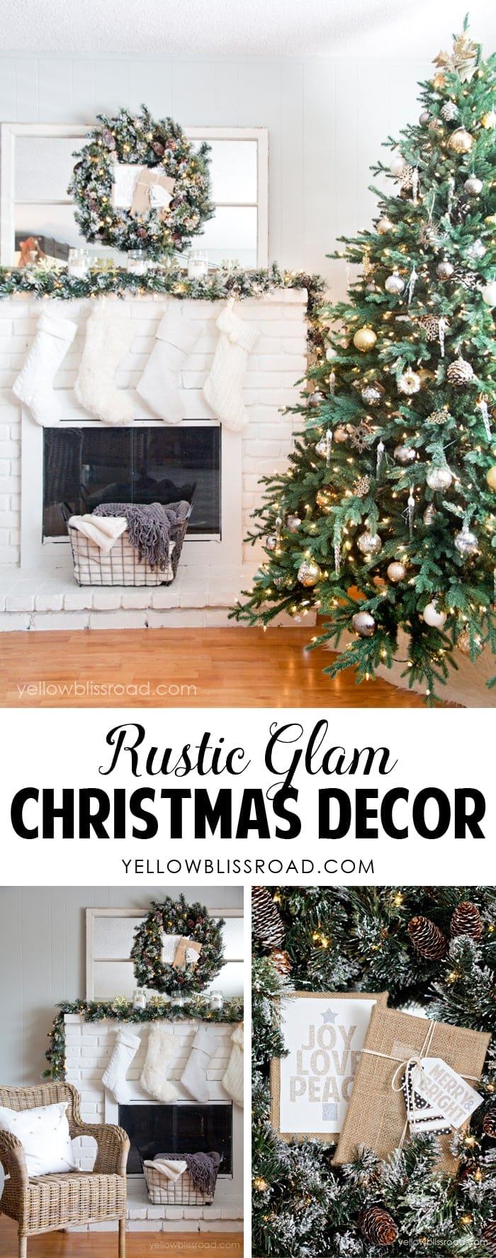 Rustic Glam Christmas Decor 2