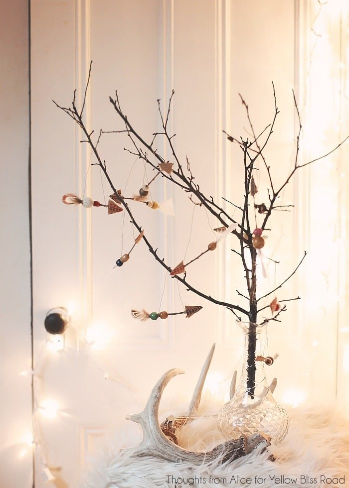 Handmade Christmas Ornaments: Rustic Twig Arrows - Yellow Bliss Road