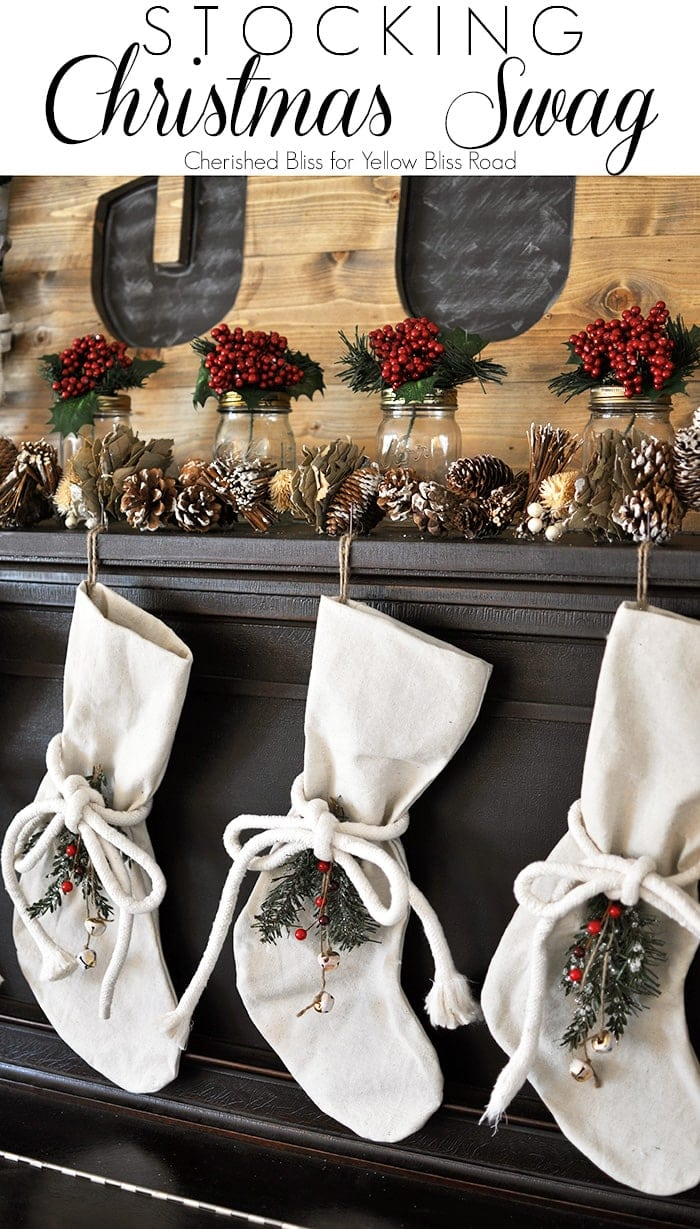 Stocking Christmas Swag Tutorial - Such a cute way to dress up your Christmas Stockings!