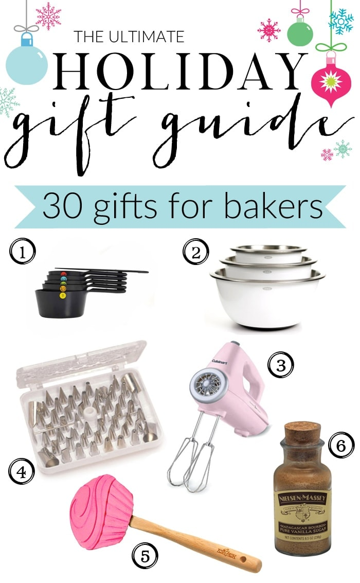 The Ultimate Holiday Gift Guide for Bakers with gifts for eveyone and every budget! 2