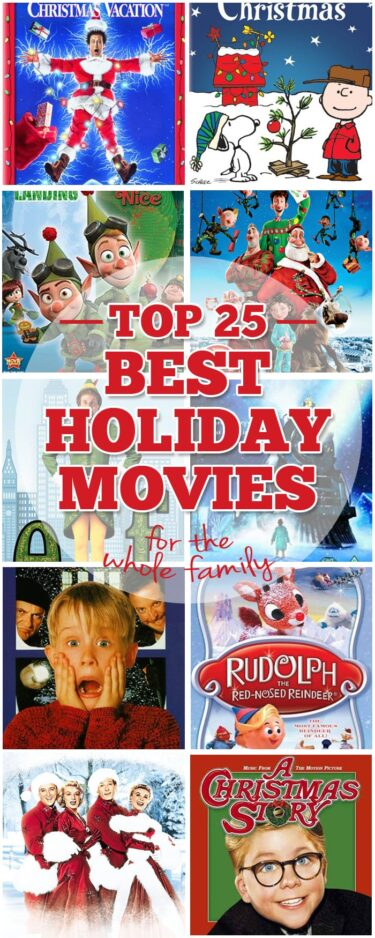 best Christmas movies pinnable collage