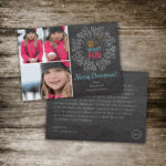 Chalkboard Wreath Photo Holiday Card