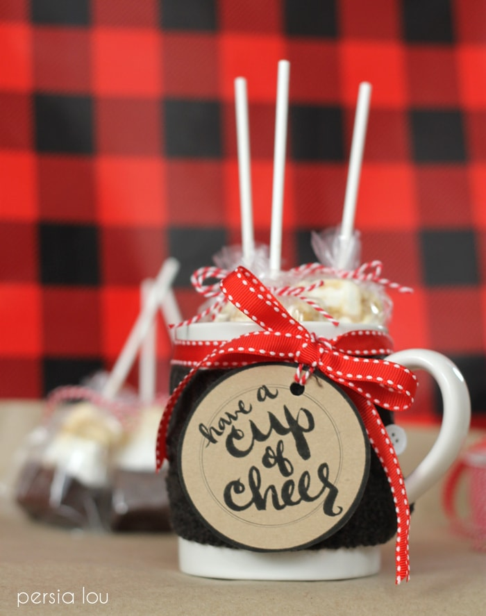 """Close up of a mug that says \""""have a cup of cheer\"""""""