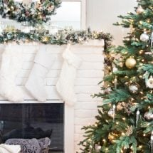 Rustic Glam Christmas Tree and Mantel