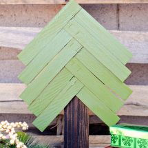 Christmas Crafts: Wood Shim Christmas Tree