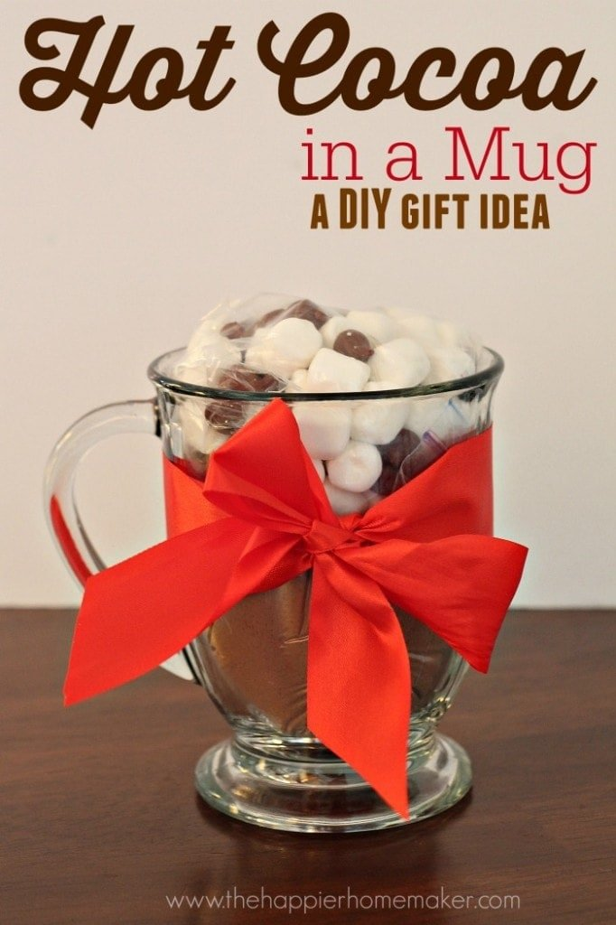 Homemade Gift Idea: Hot Cocoa in a Mug - Yellow Bliss Road