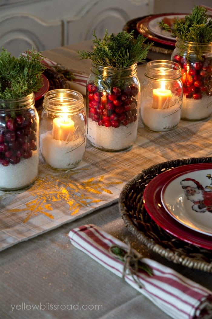 tablescape christmas