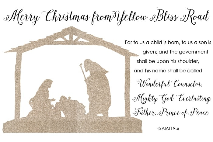 Christmas project recap and a christmas greeting yellow bliss road a simple christmas card m4hsunfo