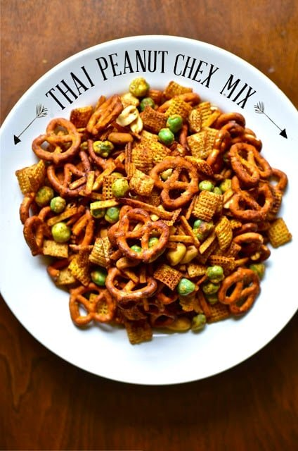 A plate of Chex Snack mix