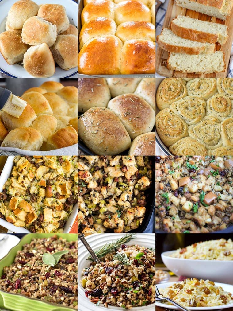 Christmas Side Dishes | Christmas Dinner | Breads and Rolls