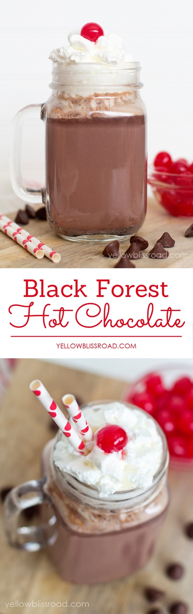 Creamy and Rich Black Forest Cherry Hot Chocolate
