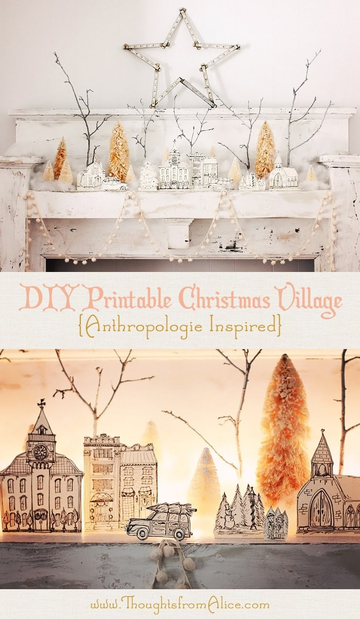 Thoughts from Alice DIY Printable Christmas Village