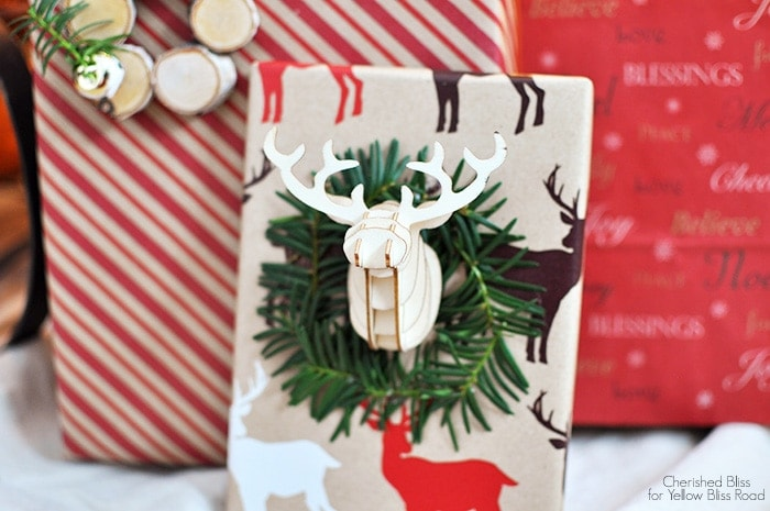 Add a little something exciting to your gifts this year with these Unique Gift Wrap Ideas | CherishedBliss.com for Yellow Bliss Road