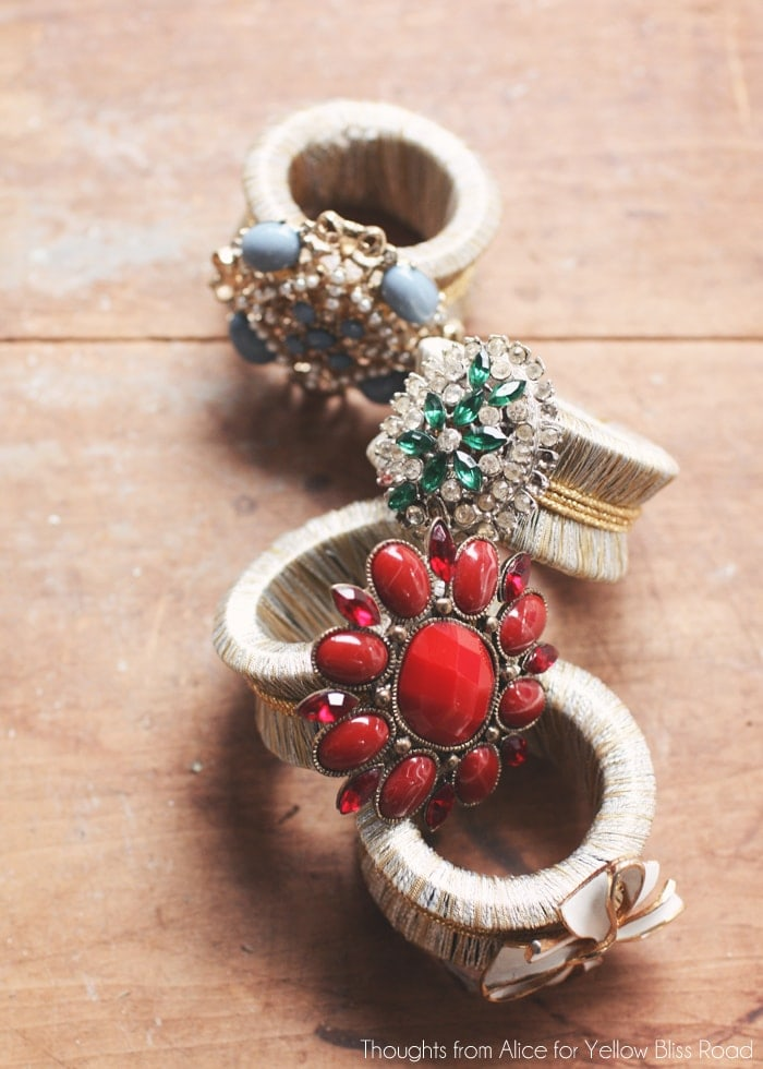 Eclectic Glam Holiday Napkin Rings