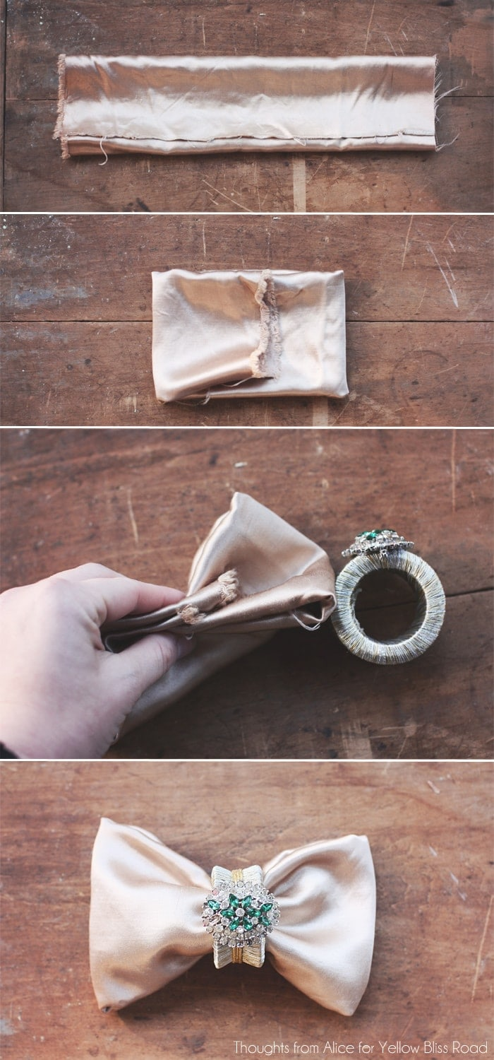 How to Fold a Bowtie Napkin