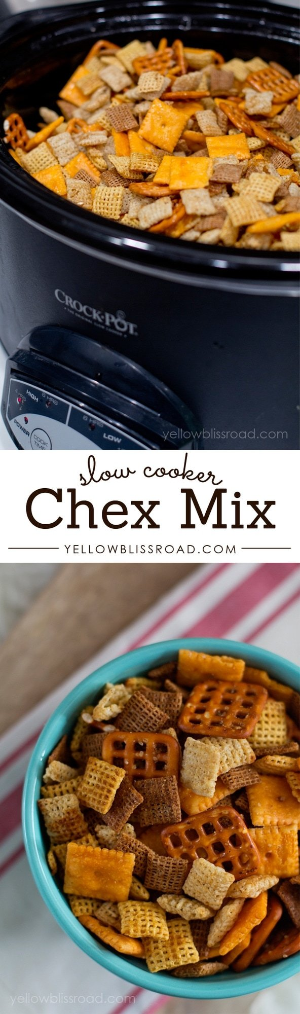 Slow Cooker Chex Mix - The easiest way to make the classic snack mix