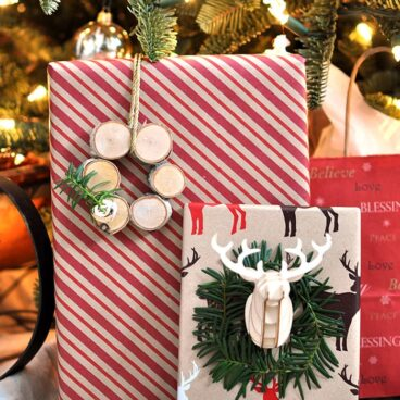 Add a little something exciting to your gifts this year with these Unique Gift Wrap Ideas   CherishedBliss.com for Yellow Bliss Road