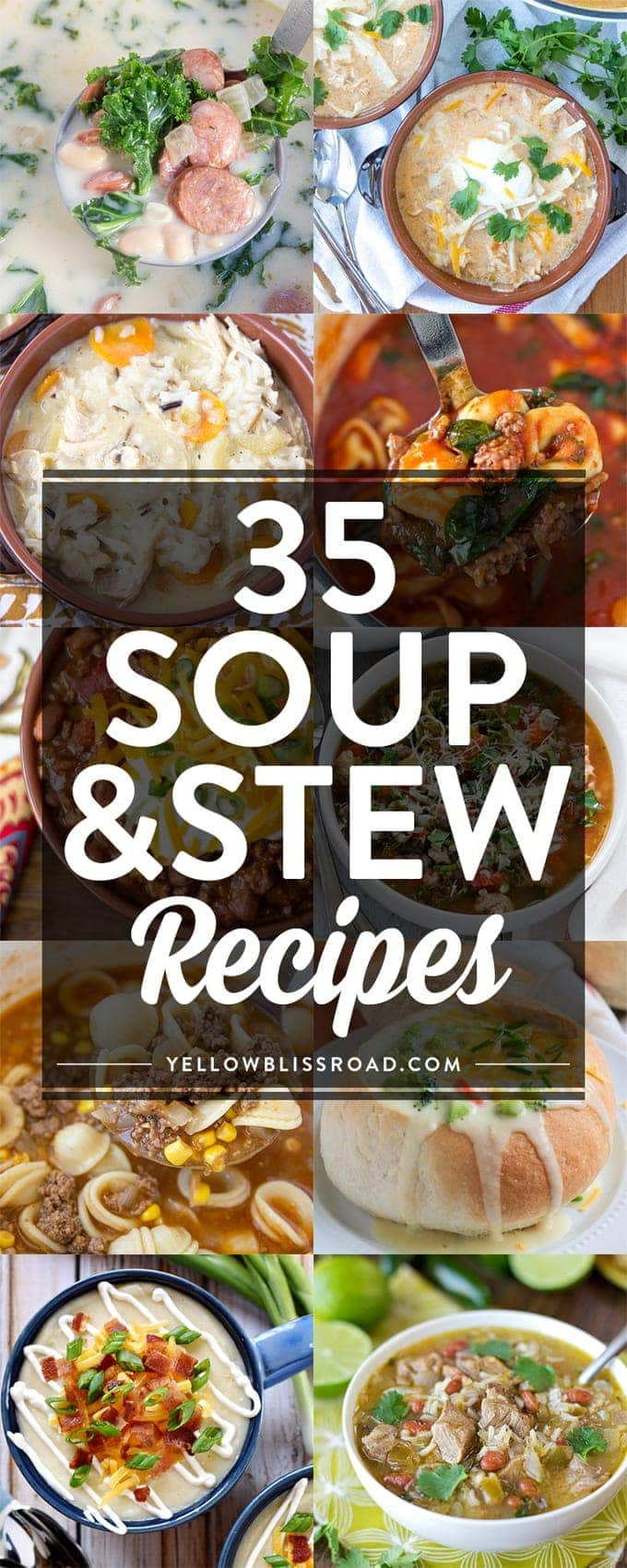 35 Comforting Soup Recipe to fill you up and keep you warm this winter.