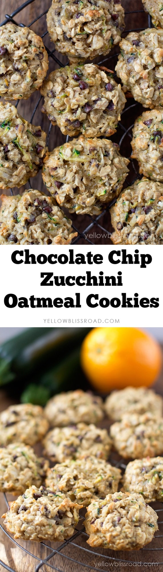Chocolate Chip Zucchini Oatmeal Cookies
