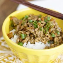 Ground Turkey Teriyaki Rice Bowl