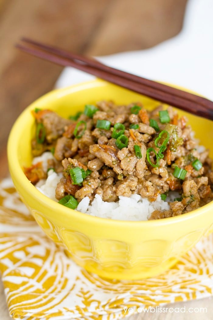 Teriyaki Turkey Rice Bowl Easy Ground Turkey Recipe