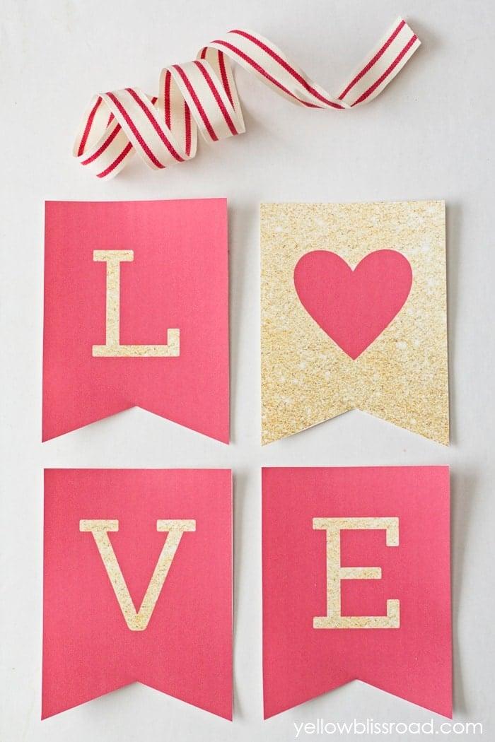 Free Printable Valentine's Day Banner - Tatertots and Jello Free Printable Valentine's Day Decorations