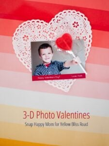 3-D Photo Valentines - Tutorial by Snap Happy Mom for Yellow Bliss Road