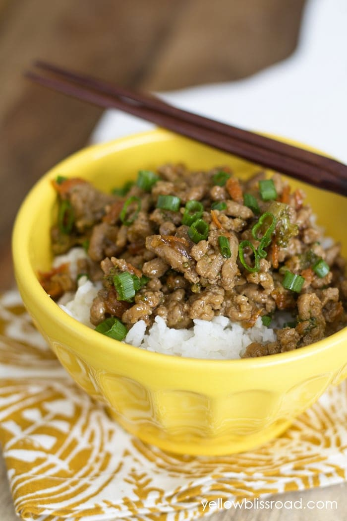 Teriyaki Rice Bowl with Ground Turkey