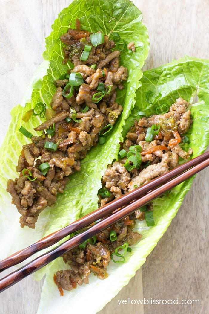 Teriyaki Turkey Lettuce Wraps