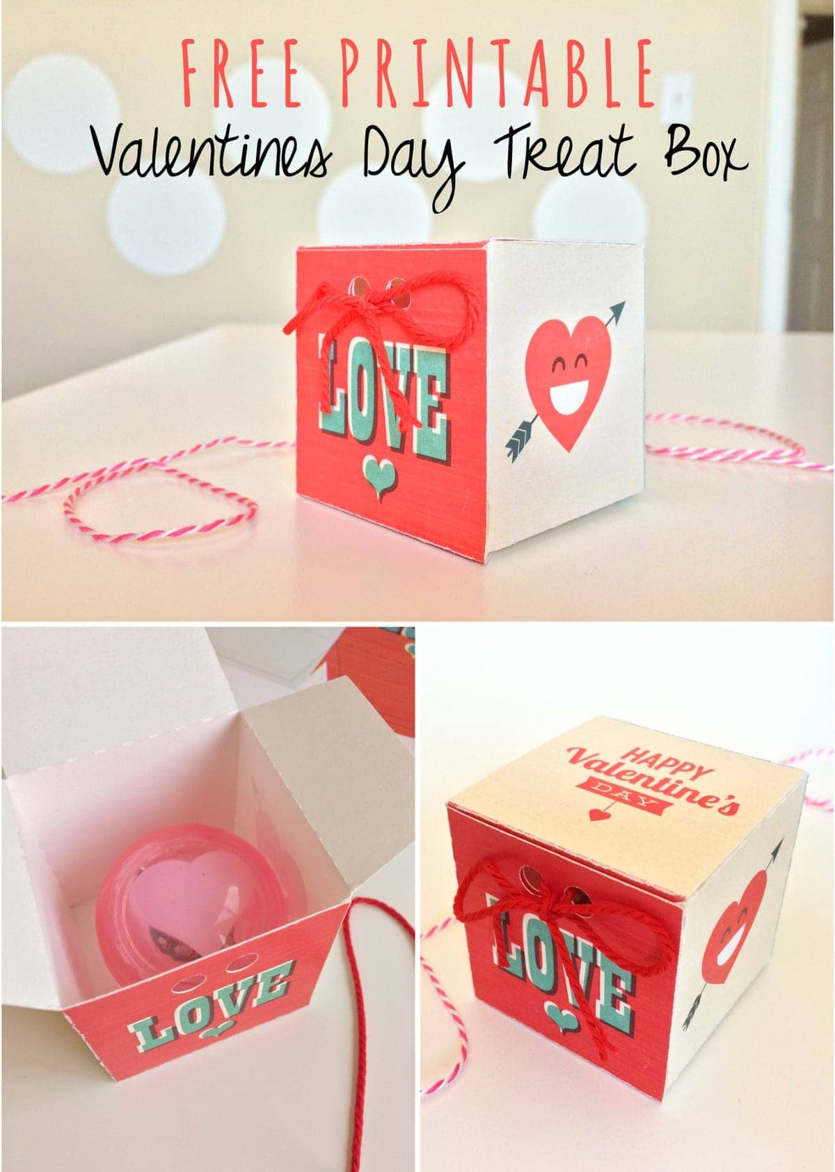 Free Printable Valentines Day Treat Box