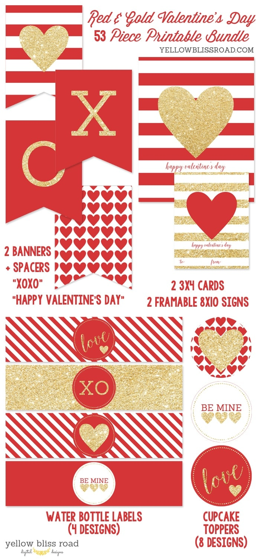 Valentine Printable Bundle 1