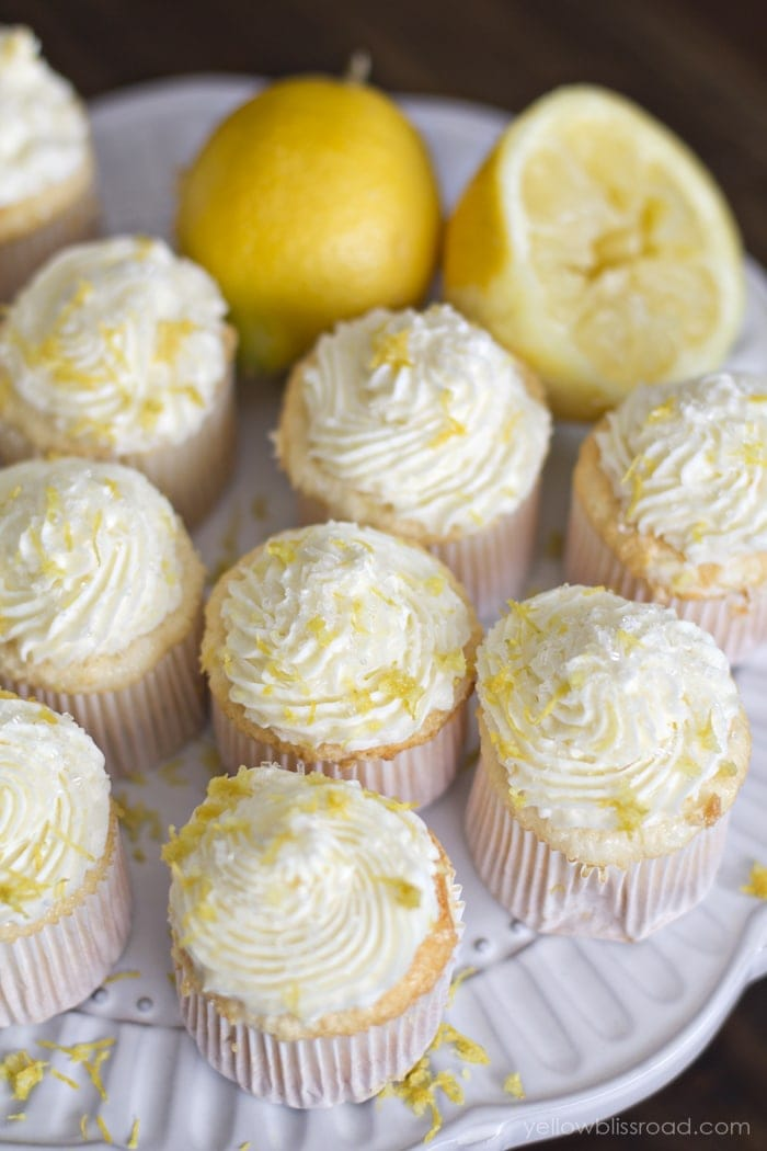 Amazing Lemon Angel Food Cupcakes