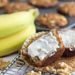 A close up of Banana Bread Muffin