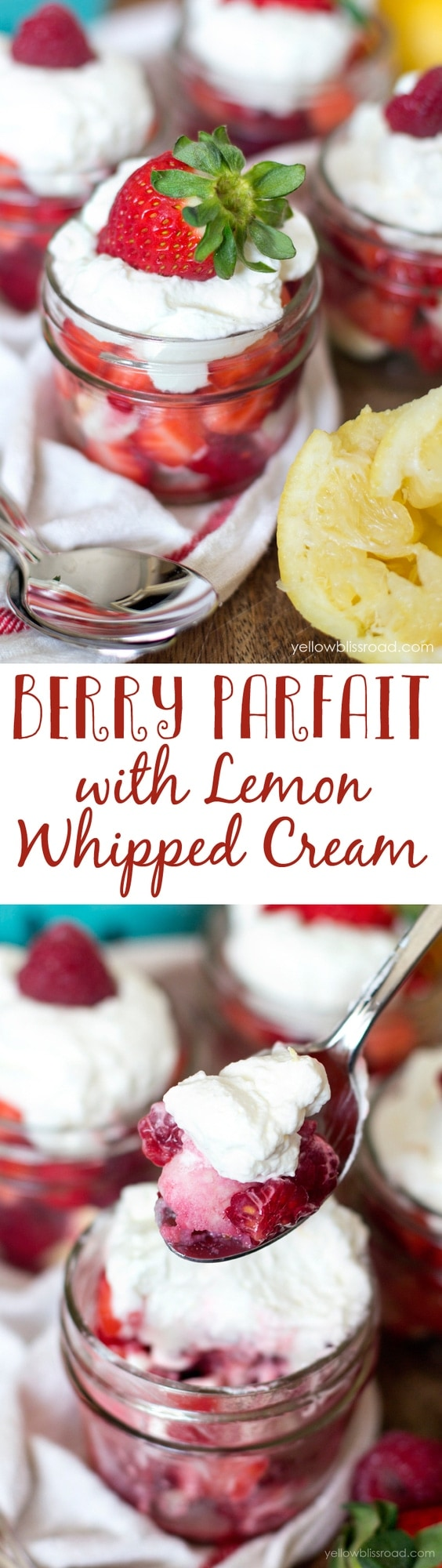 Berry Parfait with Lemon Whipped Cream