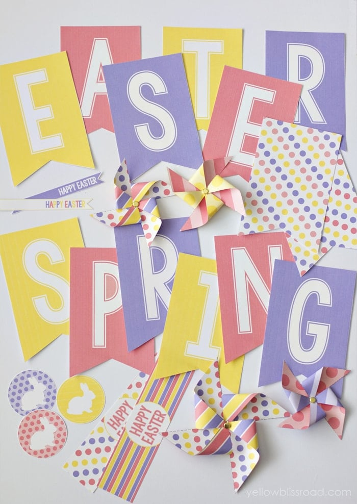 Bright and Colorful Spring and Easter Party Pack