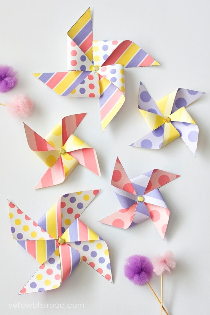 Colorful Spring Pinwheels