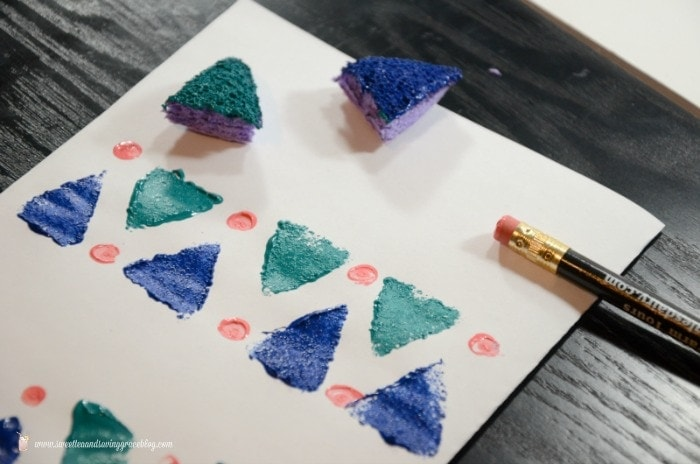 DIY Stamped Napkins