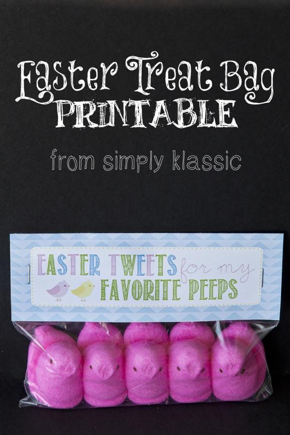 Image of Easter Treat Bag Printable
