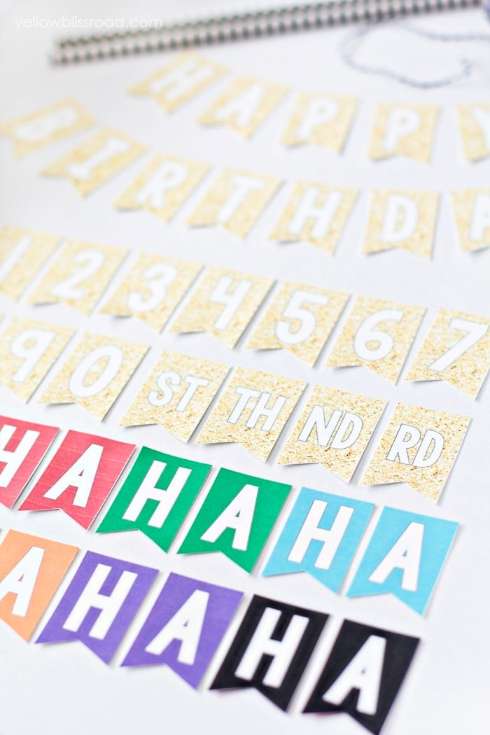 Free Printable Mini Birthday Bunting