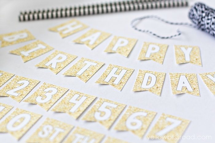 Gold Mini Birthday Bunting
