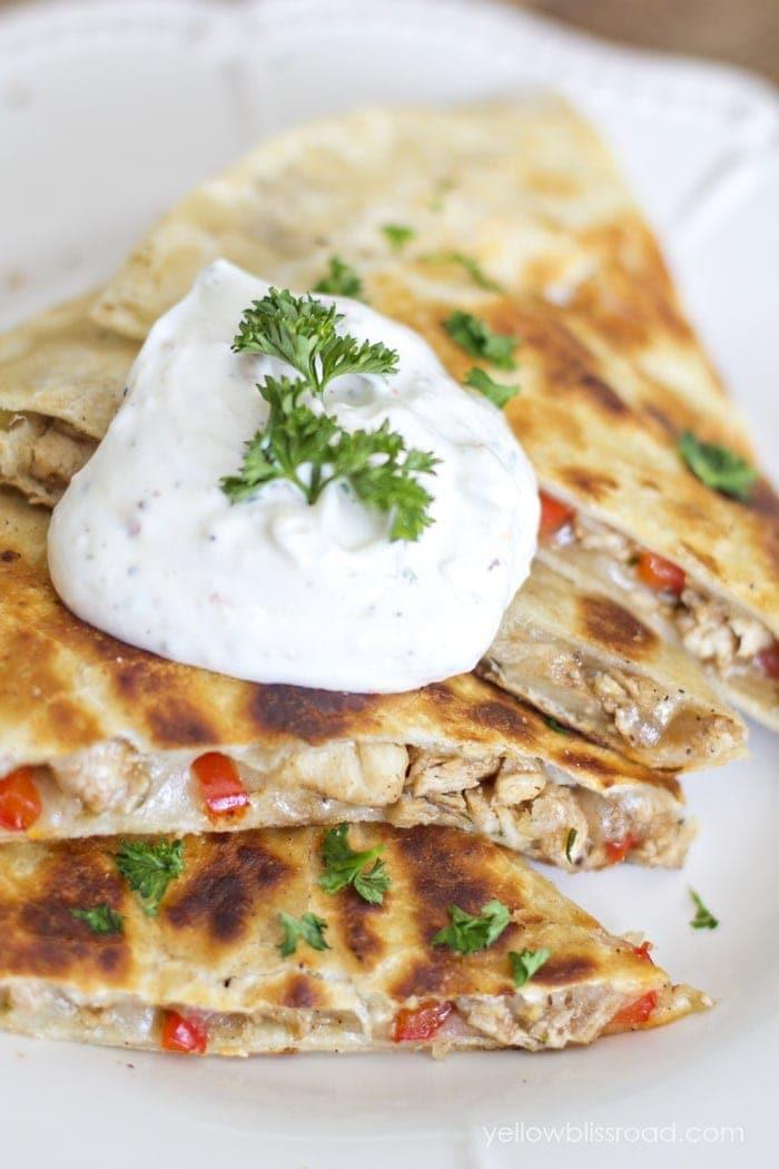 Italian Chicken Quesadilla