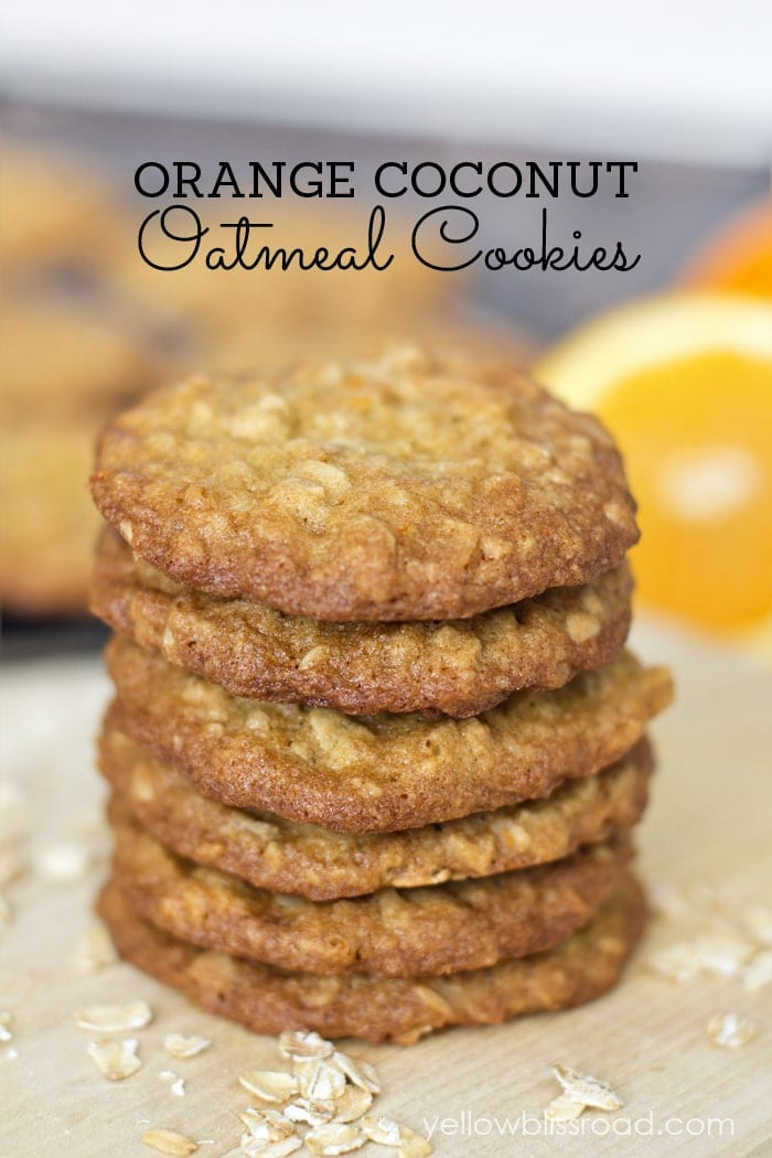 Orange Coconut Oatmeal Cookies